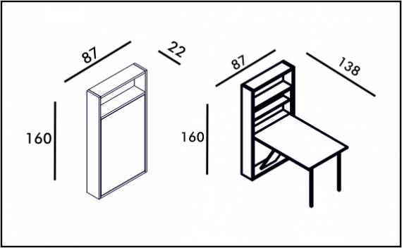 Secret Table - Technical drawing