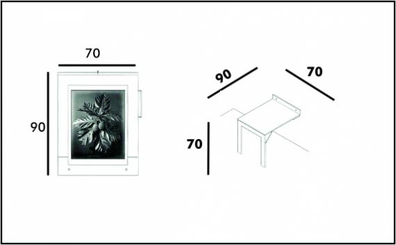 Frame Table - Technical drawing
